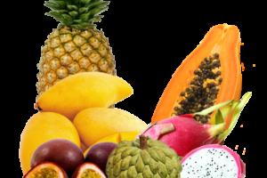 Экзотический набор фруктов